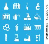 chemical icons set. set of 16... | Shutterstock .eps vector #621202778