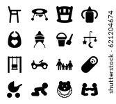 kid icons set. set of 16 kid... | Shutterstock .eps vector #621204674