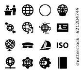 international icons set. set of ... | Shutterstock .eps vector #621204749