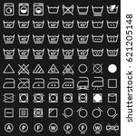 laundry instruction icons and... | Shutterstock .eps vector #621205148