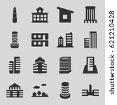 downtown icons set. set of 16... | Shutterstock .eps vector #621210428