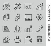 financial icons set. set of 16... | Shutterstock .eps vector #621213740