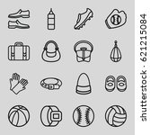 leather icons set. set of 16... | Shutterstock .eps vector #621215084