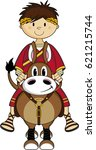 cartoon ancient roman emperor | Shutterstock .eps vector #621215744