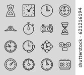 countdown icons set. set of 16... | Shutterstock .eps vector #621216194
