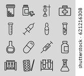 drug icons set. set of 16 drug... | Shutterstock .eps vector #621216308
