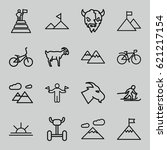 mountain icons set. set of 16... | Shutterstock .eps vector #621217154