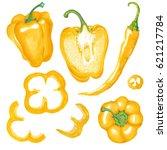 watercolor marker illustration... | Shutterstock . vector #621217784