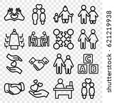 together icons set. set of 16... | Shutterstock .eps vector #621219938