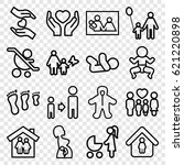family icons set. set of 16... | Shutterstock .eps vector #621220898