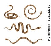 collection of brown poisonous... | Shutterstock .eps vector #621222860
