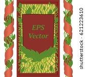 vector floral background for... | Shutterstock .eps vector #621223610