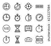 countdown icons set. set of 16...   Shutterstock .eps vector #621227084