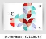 modern business brochure or... | Shutterstock .eps vector #621228764