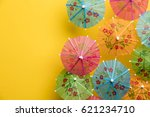 cocktail umbrella summertime... | Shutterstock . vector #621234710