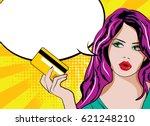 pretty beautiful young women... | Shutterstock .eps vector #621248210