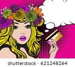 pretty beautiful young women...   Shutterstock .eps vector #621248264