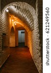 corridor lined with brick  as... | Shutterstock . vector #621249560