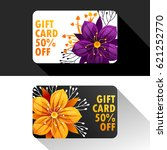 set of discount spring cards.... | Shutterstock .eps vector #621252770