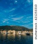 yacht porto montenegro. elite...   Shutterstock . vector #621253310
