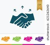 handshake icon flat isolated...   Shutterstock .eps vector #621262640