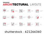 architectural layouts in trendy ... | Shutterstock .eps vector #621266360