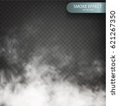 smoke effect on a transparent... | Shutterstock .eps vector #621267350