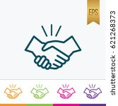 handshake icon flat isolated... | Shutterstock .eps vector #621268373
