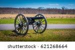 Small photo of American civil war memorial cannon.