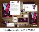 vector abstract stationery... | Shutterstock .eps vector #621276380