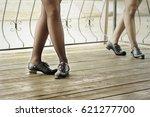 irish stepping on boards floor | Shutterstock . vector #621277700