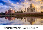 Taj Mahal Scenic Sunset View...