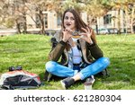 picnic in park    Shutterstock . vector #621280304