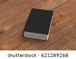 black blank thick book cover... | Shutterstock . vector #621289268