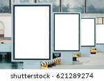 advertising boards on the... | Shutterstock . vector #621289274