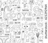 doodle humorous vector sextoys... | Shutterstock .eps vector #621292964