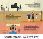 disable people can make great...   Shutterstock .eps vector #621295199