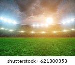 soccer stadium and beautiful... | Shutterstock . vector #621300353
