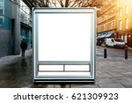 mock up vehicle kiosk with text ... | Shutterstock . vector #621309923