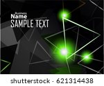 green abstract template for... | Shutterstock .eps vector #621314438