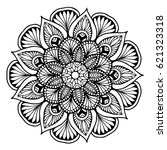mandala for coloring book.... | Shutterstock .eps vector #621323318