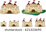 cartoon castle for the game ...