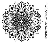 mandalas for coloring book.... | Shutterstock .eps vector #621327224