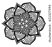 mandalas for coloring book.... | Shutterstock .eps vector #621327494
