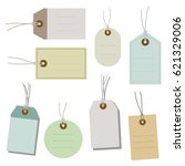 set of paper tags   vector...   Shutterstock .eps vector #621329006