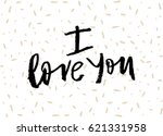 hand lettering with brush. i... | Shutterstock .eps vector #621331958