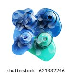 double exposure  spilled nail... | Shutterstock . vector #621332246