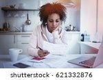young single upset african... | Shutterstock . vector #621332876