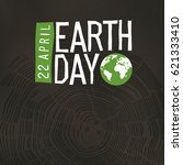 earth day poster. tree rings... | Shutterstock .eps vector #621333410