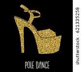 woman pole dance print. exotic...   Shutterstock .eps vector #621335258
